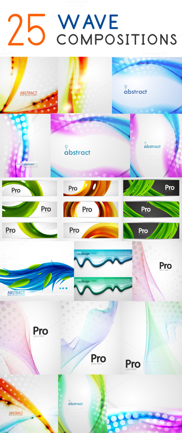 25 Wave Backgrounds