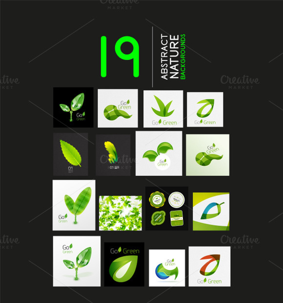 19 Green Nature Backgrounds