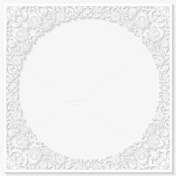 Set Of Decorative Floral Frames