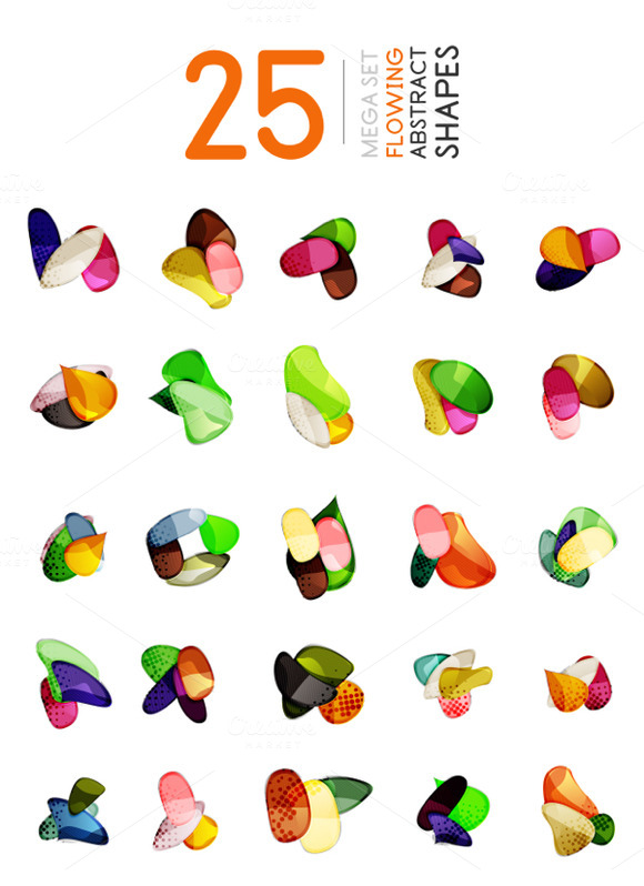 Abstract Glass Shapes Set