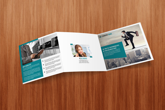 Square Tri Fold Business Brochure