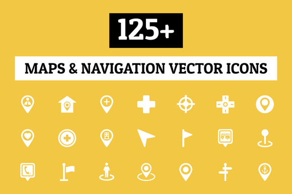 125 Maps And Navigation Vector Icon