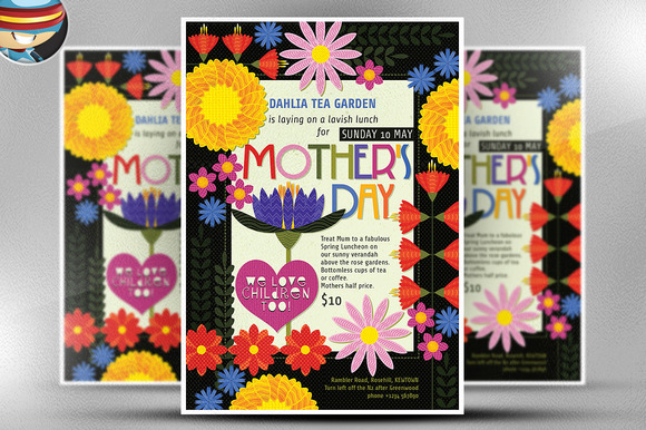 Illustrated MotherЎЇs Day Flyer