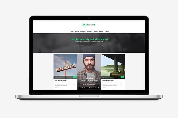 Caramel WordPress Blog Theme