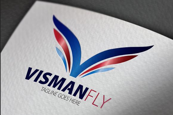 Visman Fly V Letter Logo