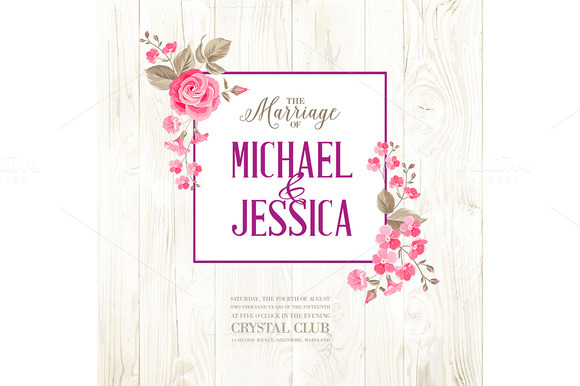 Marriage Invitation Card With Text
