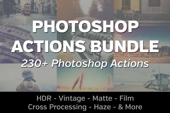 230 Photoshop Actions Bundle