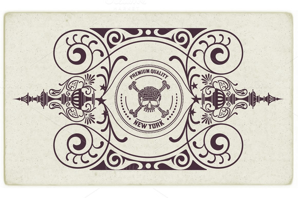 Retro Card With Floral Details
