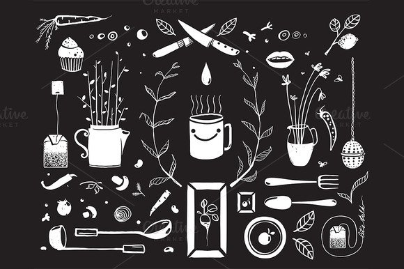 Kitchen Food And Drinking Tea Design