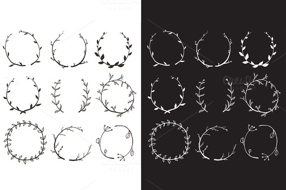 Rustic Laurel And Wreath Collection