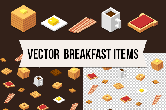 Isometric Vector Food Pattern