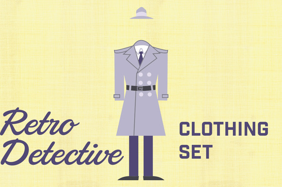 Retro Detective Clothing Set