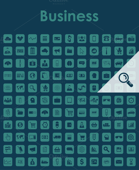 121 BUSINESS Simple Icons