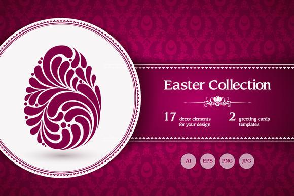 Easter Decor Elements Set