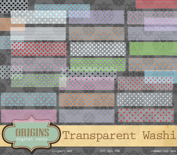 Transparent Digital Washi Tape