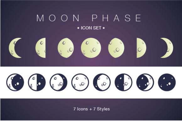 Moon Phase Icon Set