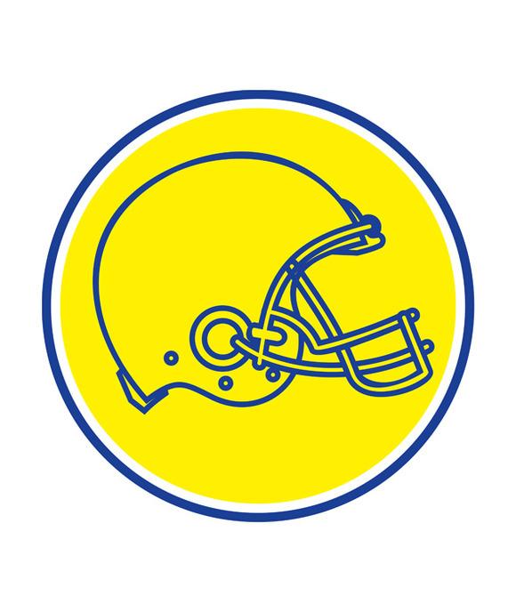 American Football Helmet Line Drawin