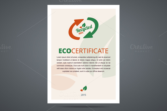 Recycled Product Eco Certificate