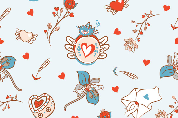Cute Pattern For Valentines Day