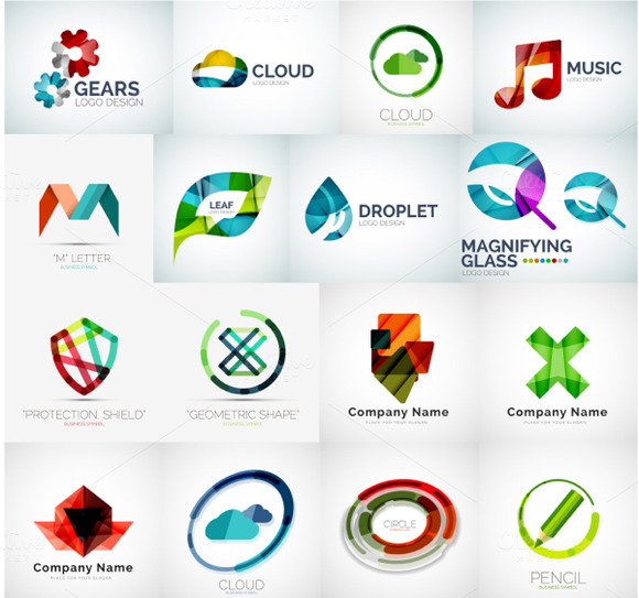 Abstract Company Logos Set