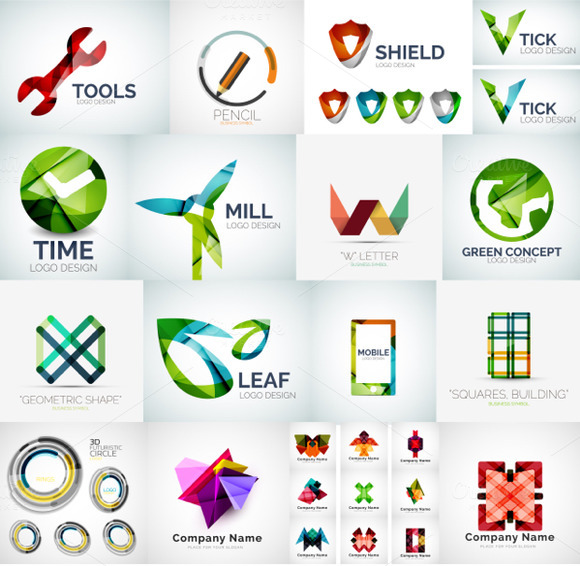 Overlapping Logo Designs