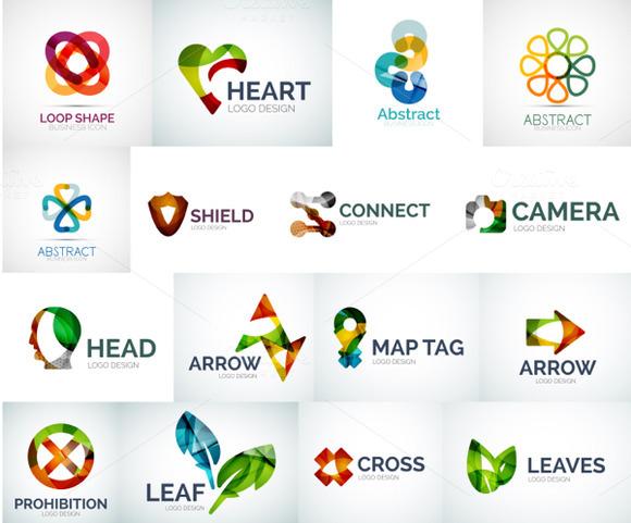 Abstract Logotypes Set