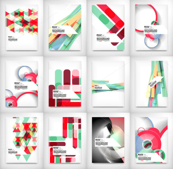 Geometric Business Brochures Set