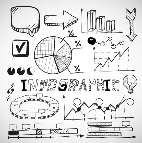Business Infographic Doodles