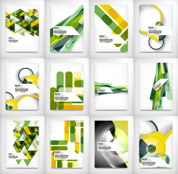 Abstract Geometric Brochure Designs