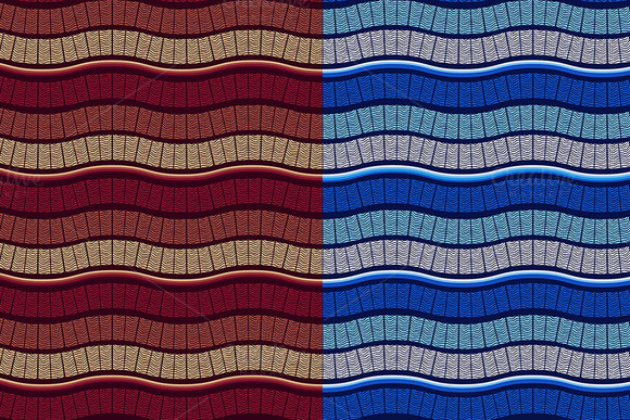 Vector Seamless Wavy Patterns