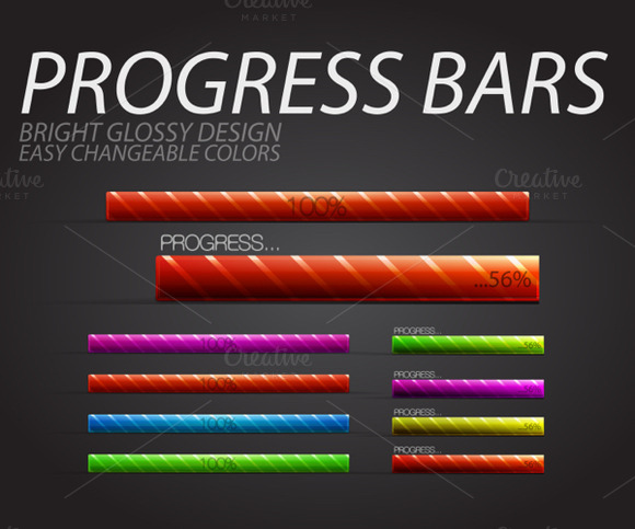 Glossy Progress Bars