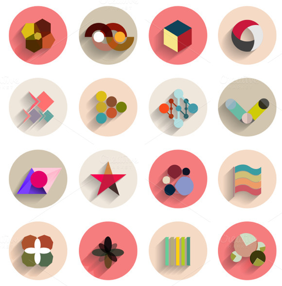 Vector Geometric Abstract Flat Icons