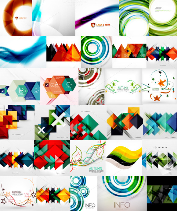 Abstract Business Backgrounds Set