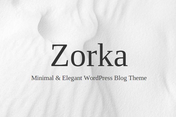 Zorka Minimal Elegant WP Blog