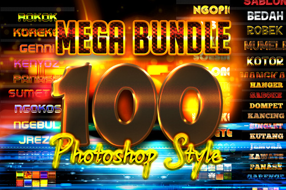 Mega Bundle 100 Photoshop Styles