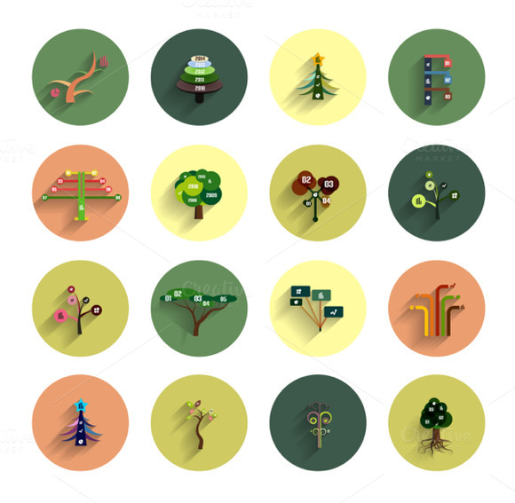 Eco Tree Infographic Icon Designs