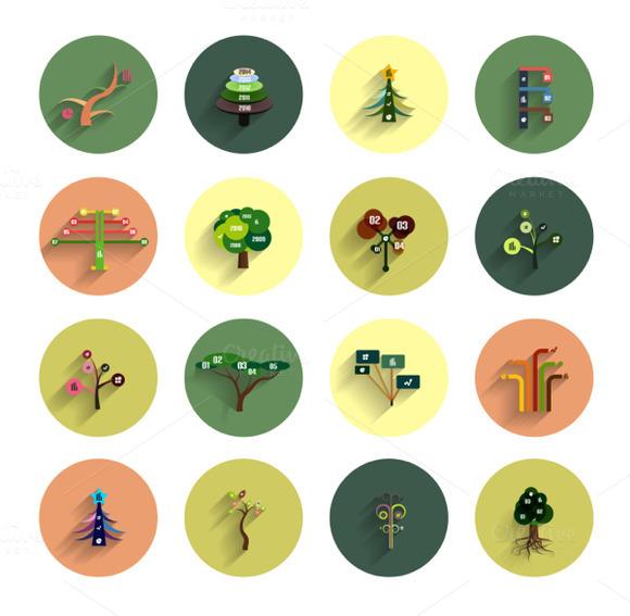 Eco Tree Infographic Icon Designs