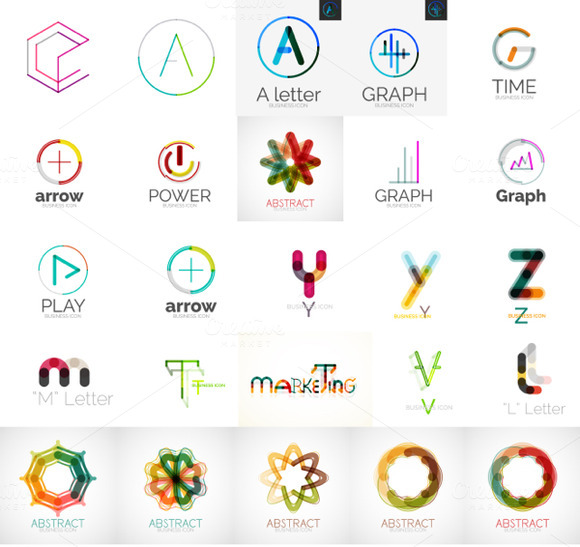 Thin Line Abstract Logos