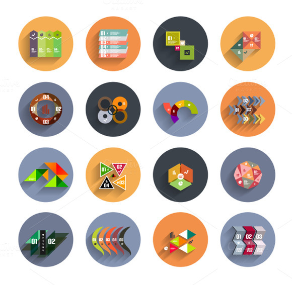 Flat Colorful Infographic Designs