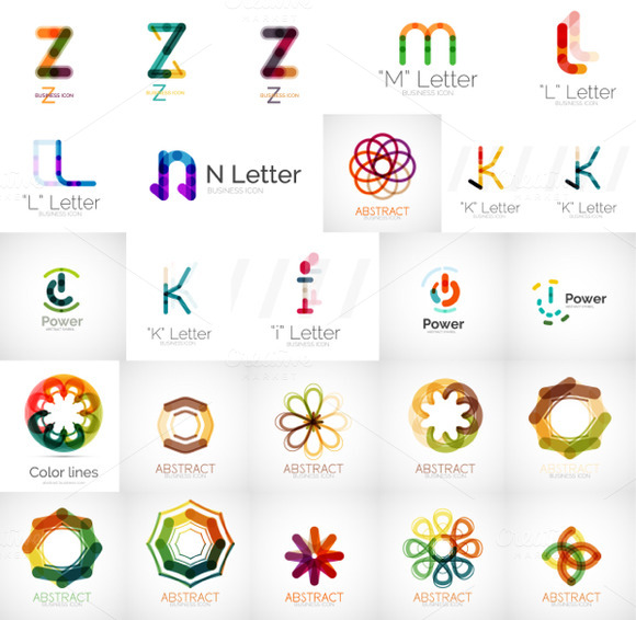 Letters And Icons Company Logos
