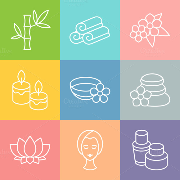 Set Of Spa And Recreation Icons