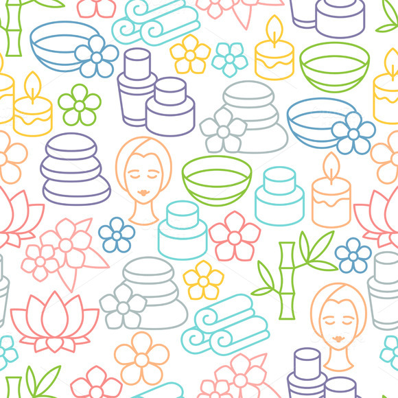 Spa Seamless Patterns