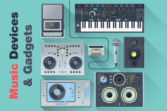 Music Devices Gadgets Icons