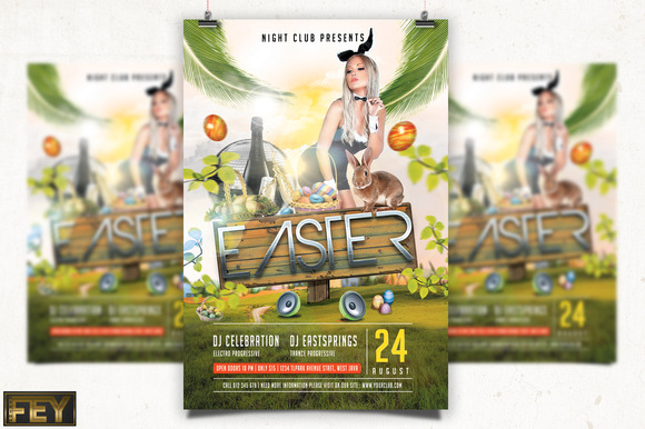 Spring Easter Party Flyer