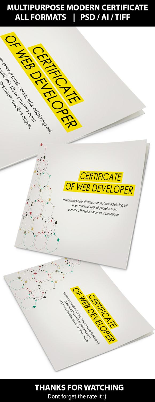 Multipupose Modern Certificate IV