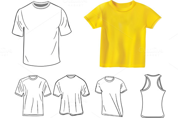 T-shirt Design Template Set