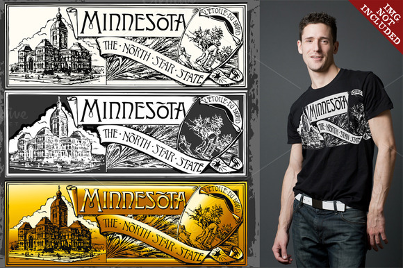 Minnesota Label Plaque In 3 Colors