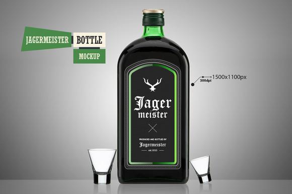 Jagermeister Bottle Mockup