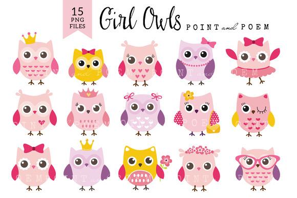 Girl Owl Clip Art Baby Shower