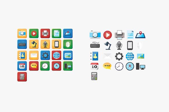 Media Communication Flat Icons